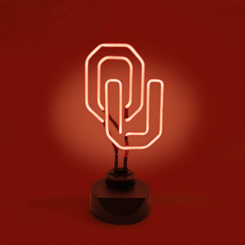 AES Optics University of Oklahoma Table Top Neon Light