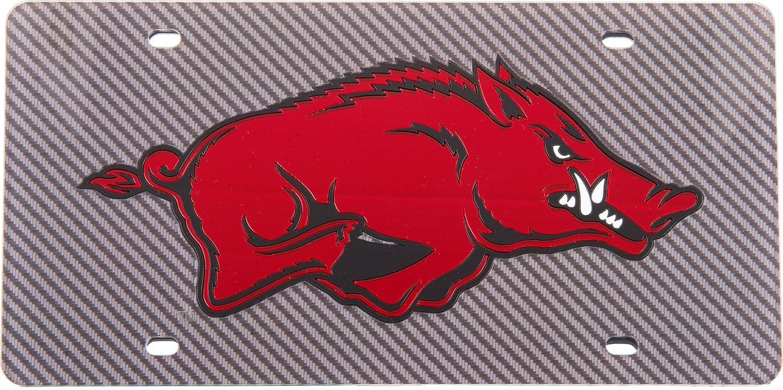 Stockdale University of Arkansas Carbon Fiber License Plate