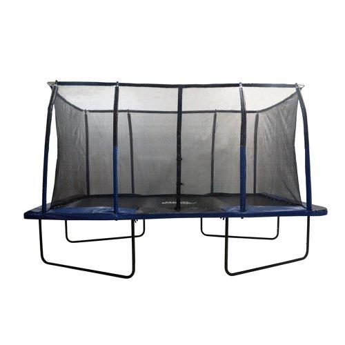 Upper Bounce® Mega 8' x 14' Rectangular Trampoline with Fiber Flex Enclosure System