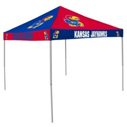 Logo University of Kansas Straight-Leg 9 ft x 9 ft Checkerboard Tent