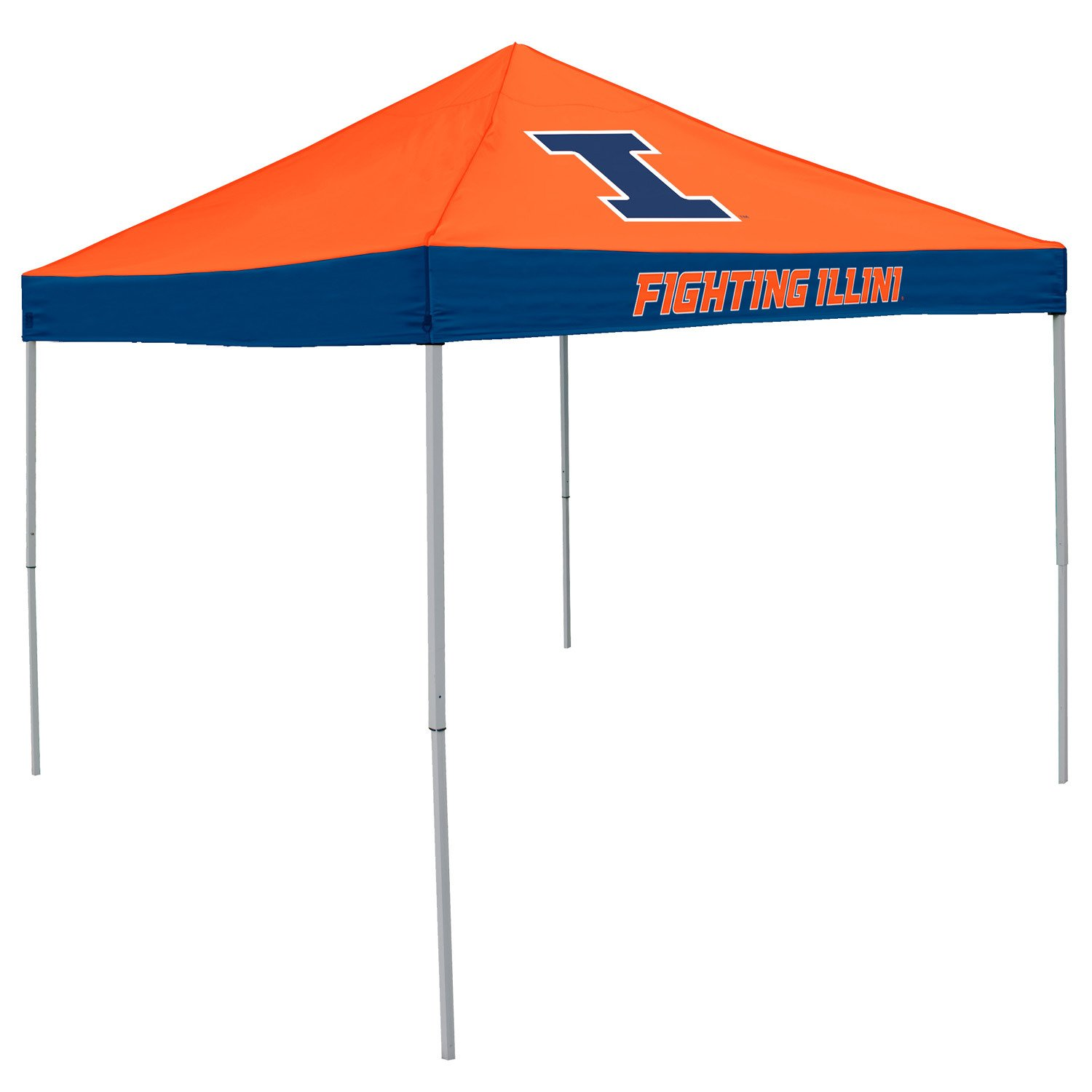 Logo University of Illinois Straight-Leg 9 ft x 9 ft Economy Tent - view number 1
