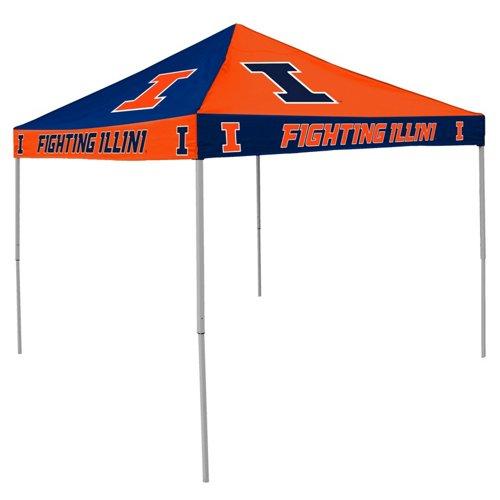 Logo University of Illinois Straight-Leg 9 ft x 9 ft Checkerboard Tent