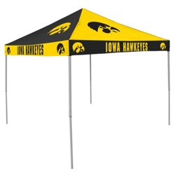 Logo University of Iowa Straight-Leg 9 ft x 9 ft Checkerboard Tent