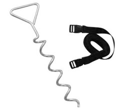 Upper Bounce® Trampoline Deep-Fastening Spiraled Anchor Kit