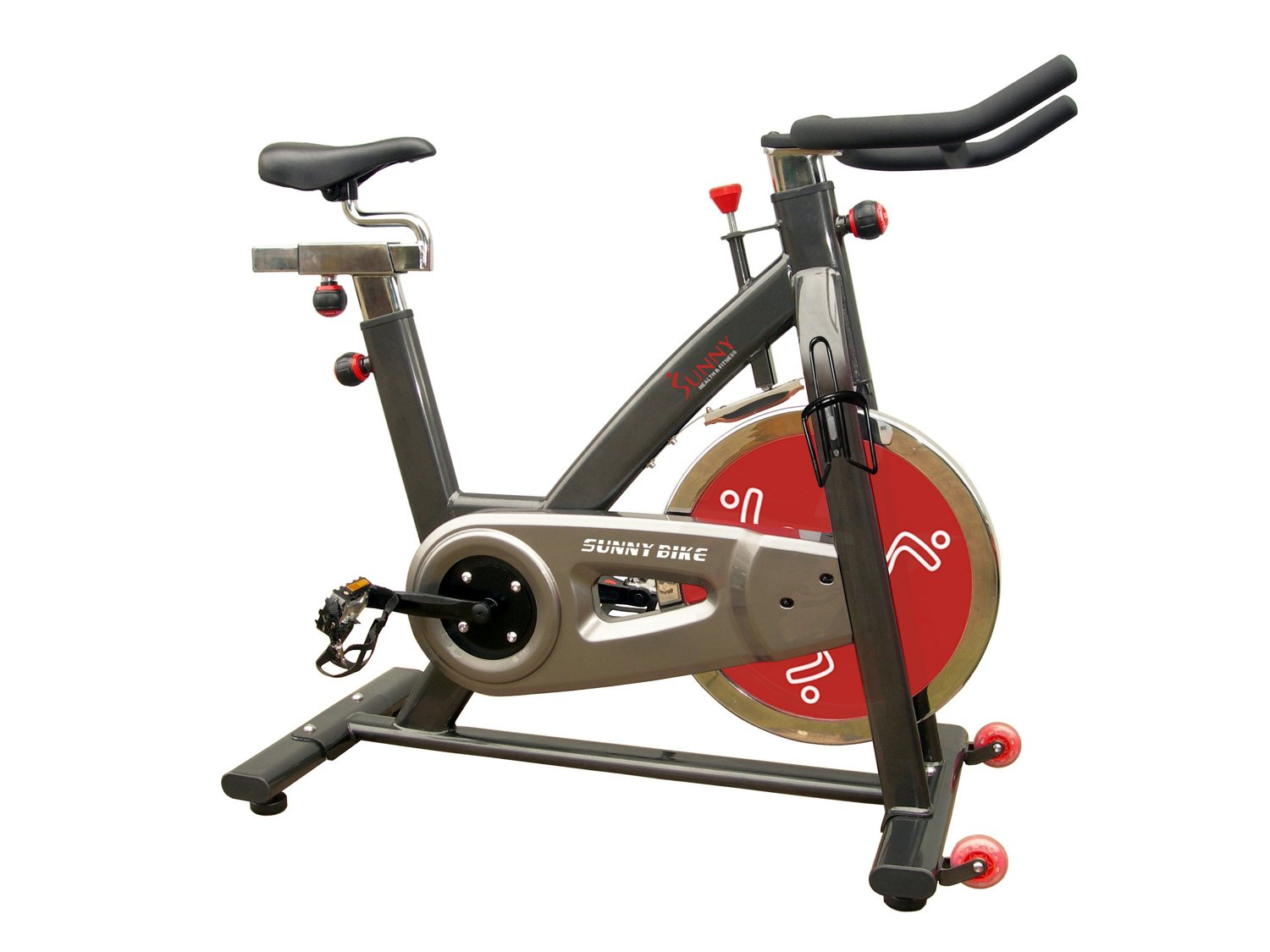 Sunny Health & Fitness SF-B1002 Belt Drive Indoor Cycling Exercise Bike - view number 1