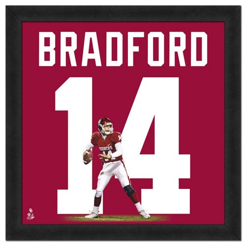 05d742fa4b7 Photo File University of Oklahoma Sam Bradford #14 UniFrame 20