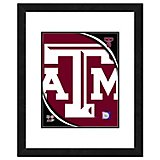 "Photo File Texas A&M University 11"" x 14"" Double Matted and Framed Team Logo Photo"