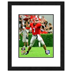 "Photo File University of Georgia Matthew Stafford 11"" x 14"" Double Matted and Framed Action Photo"