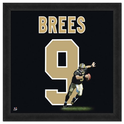 Photo File New Orleans Saints Drew Brees #9 UniFrame 20' x 20' Framed Photo