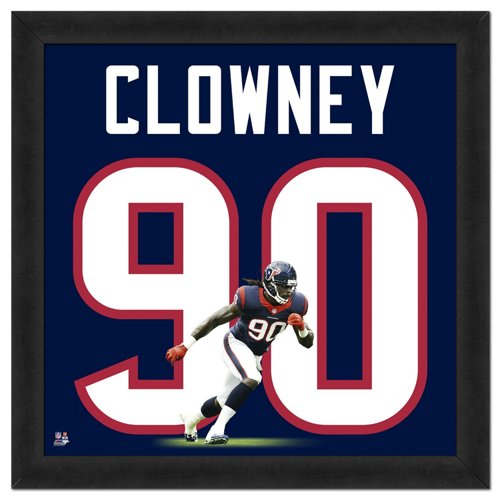 Photo File Houston Texans Jadeveon Clowney #90 UniFrame 20' x 20' Framed Photo