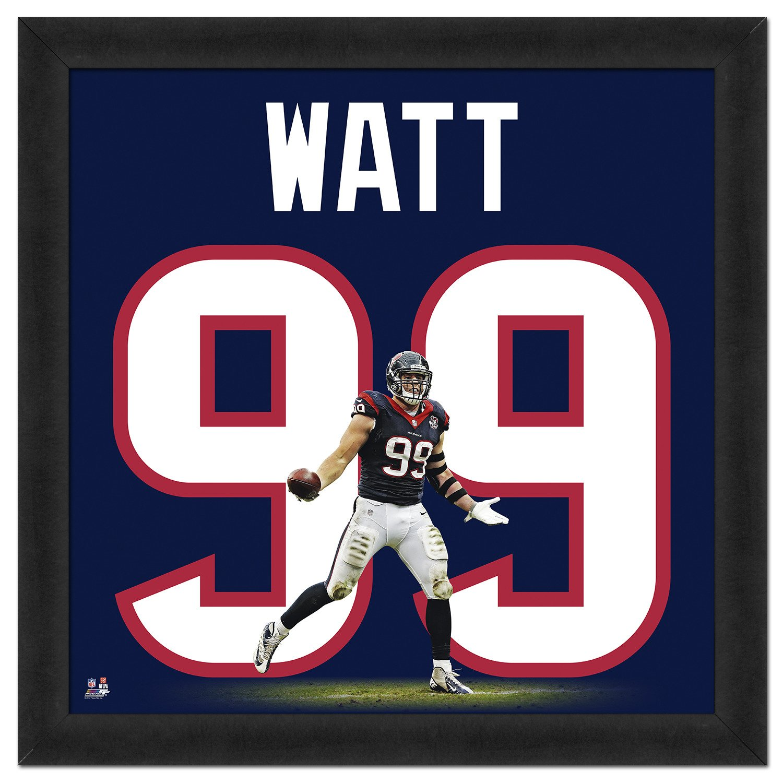 premium selection 86ec6 ed579 Photo File Houston Texans J.J. Watt #99 UniFrame 20
