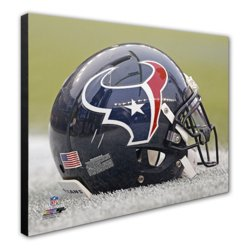 "Photo File Houston Texans 20"" x 24"" Stretched Canvas Helmet Photo"