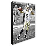 "Photo File New Orleans Saints Drew Brees 20"" x 24"" Stretched Canvas Spotlight Action Photo"