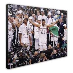 "Photo File San Antonio Spurs Tim Duncan Celebrates 8"" x 10"" Photo"