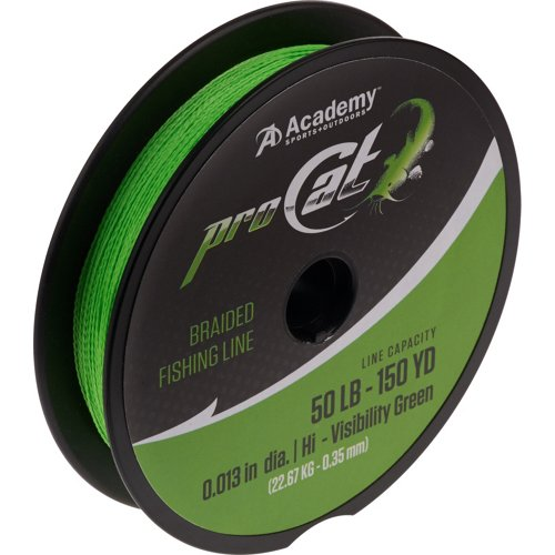 Academy Sports + Outdoors Pro Cat 150 yd Braided Fishing Line