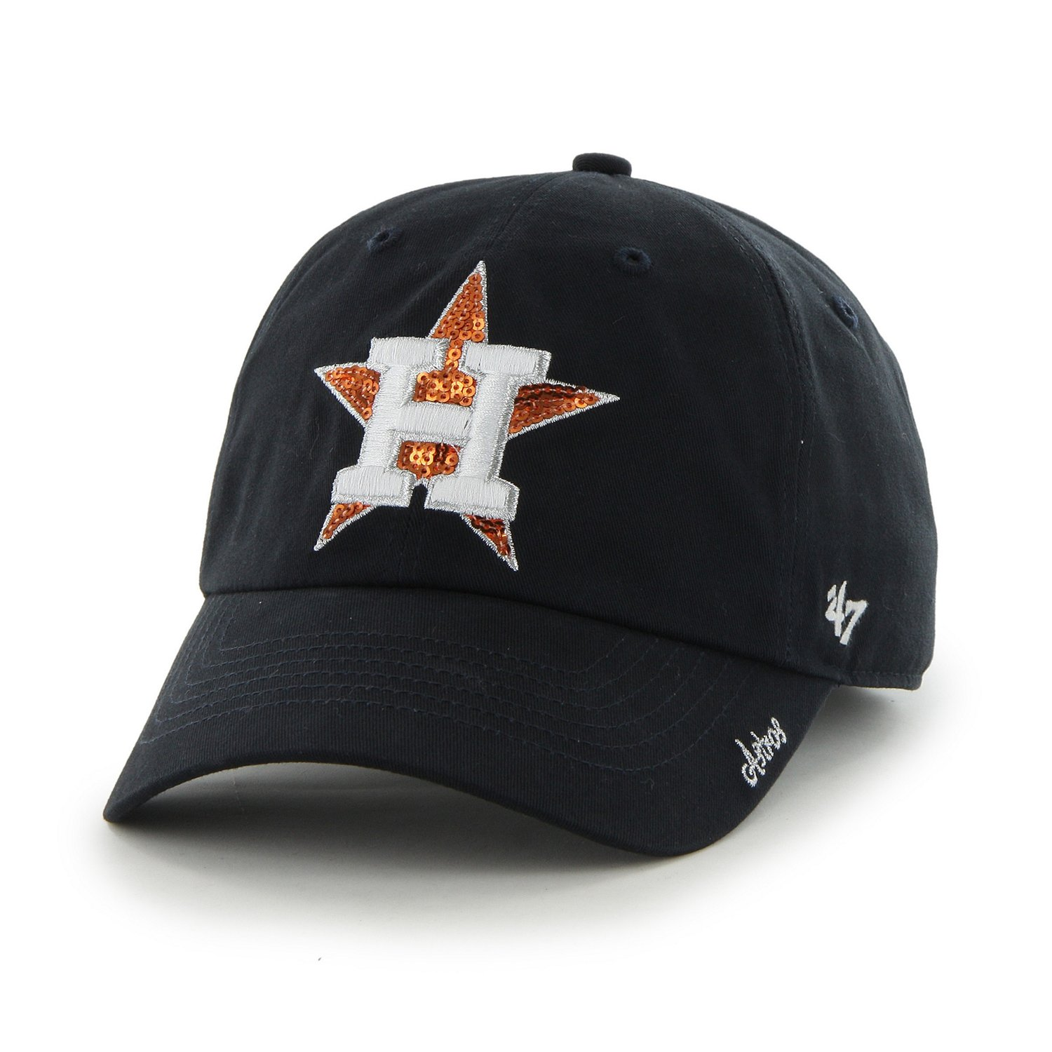 separation shoes a8d0c a3f0a Display product reviews for  47 Women s Houston Astros Sparkle Team Color  Cleanup Cap