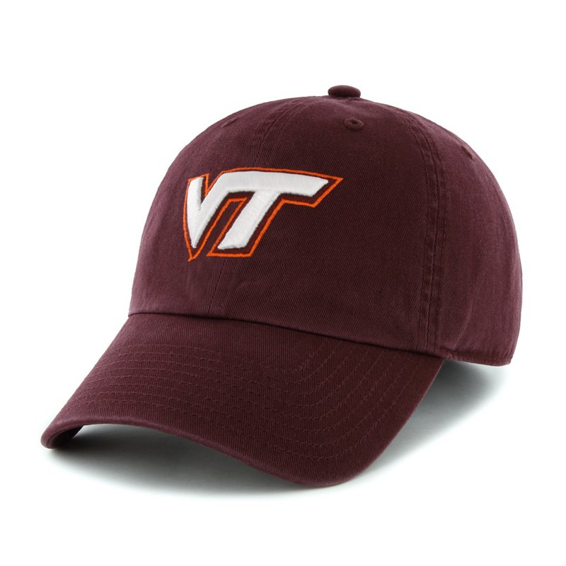 The '47 Adults' Virginia Tech Cleanup Cap is made of garment-washed cotton twill and features an embroidered team logo. Available at Academy Sports + Outdoors.