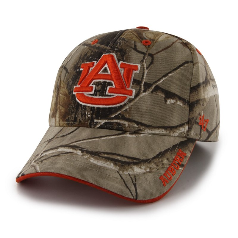'47 Adults' Auburn University Realtree Frost Camo MVP Cap Green/Brown - NCAA Mens Caps at Academy Sports thumbnail