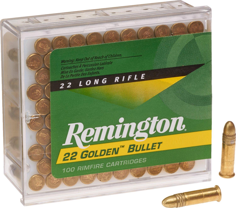 remington golden bullet 22 lr 40 grain rimfire ammunition academy