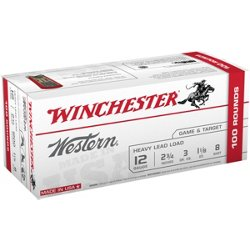 Western Target and Field Load 12 Gauge 8 Shotshells