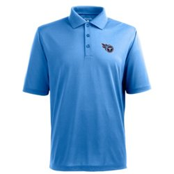 Antigua Men's Tennessee Titans Piqué Xtra-Lite Polo Shirt
