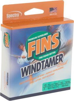 FINS Windtamer 150 yards Braided Fishing Line