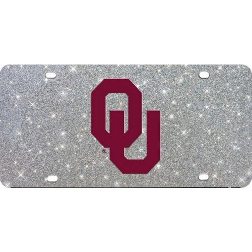 Stockdale University of Oklahoma Glitter Logo License Plate
