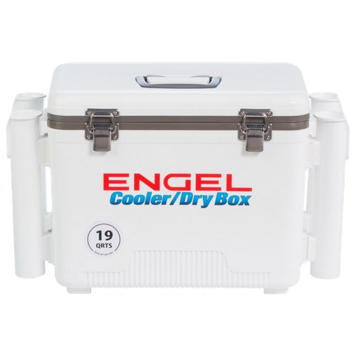 Engel 19 qt. Cooler/Dry Box with Rod Holders