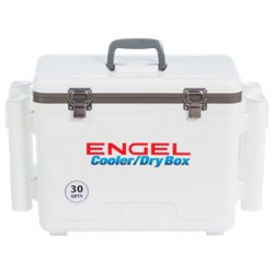 30 qt Cooler/Dry Box with Rod Holders