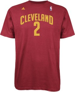 adidas Men's Cleveland Cavaliers Kyrie Irving No. 2 High Density T-shirt