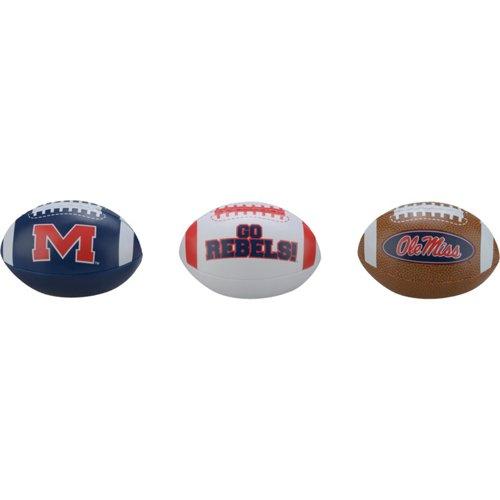 Rawlings® Boys' University of Mississippi 3rd Down Softee 3-Ball Football Set