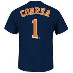 Majestic Men's Houston Astros Carlos Correa #1 Short Sleeve T-shirt
