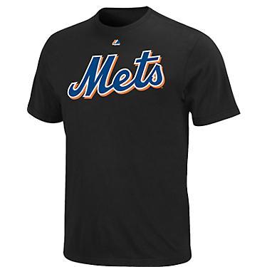 hot sale online 6e332 93789 Majestic Men's New York Mets Official Wordmark T-shirt