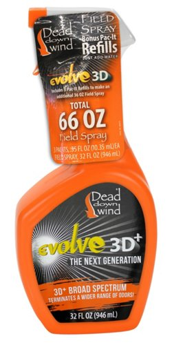 Dead Down Wind Evolve 3D+ Field Spray with Pac-It Refills
