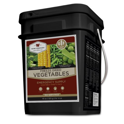 Wise Company 160-Serving Freeze-Dried Vegetable Bucket