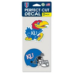 University of Kansas Perfect Cut Decals 2-Pack