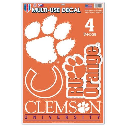 WinCraft Clemson University Multiuse Decals 4-Pack