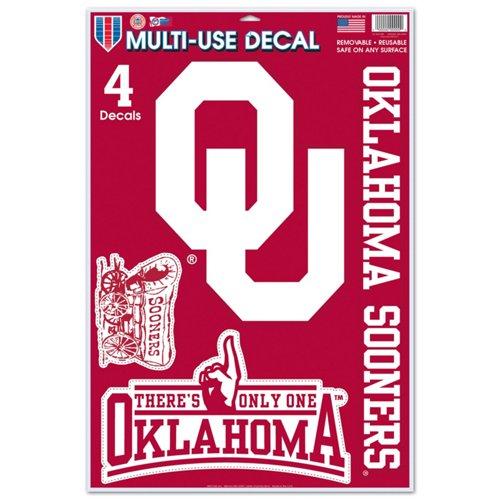 WinCraft University of Oklahoma Multiuse Decals 4-Pack