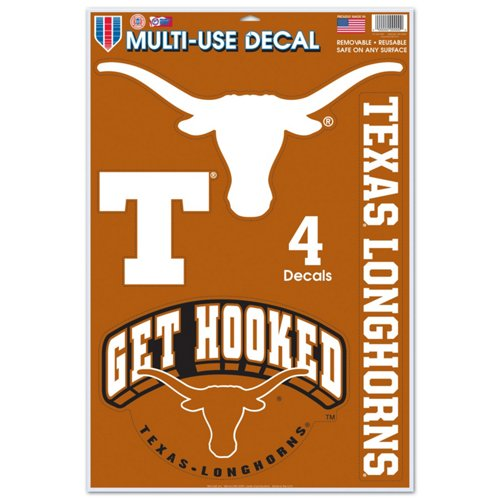 WinCraft University of Texas Multiuse Decals 4-Pack
