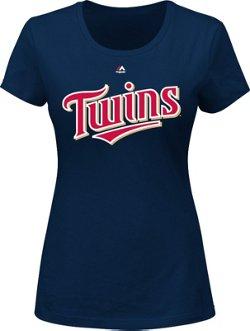 Majestic Women's Minnesota Twins Wordmark T-shirt