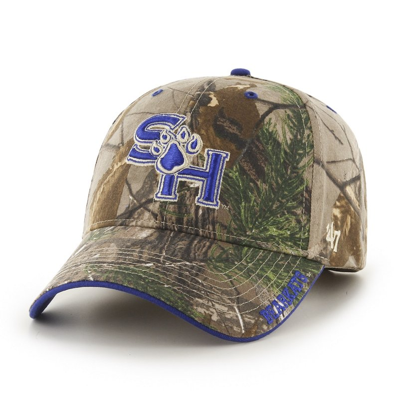 '47 Adults' Sam Houston State University Realtree Frost Camo MVP Cap Green/Brown - Ncaa Men's Caps at Academy Sports thumbnail