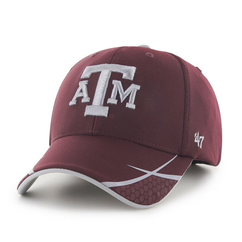 The '47 Adults' Texas A&M University Sensei MVP Cap features raised team logo embroidery and a structured fit. Available at Academy Sports + Outdoors.