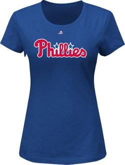 Majestic Women's Philadelphia Phillies Wordmark T-shirt