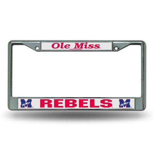 Rico University of Mississippi Chrome License Plate Frame