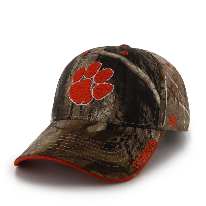 '47 Men's Clemson University Realtree Frost MVP Cap (Green/Brown, Size One Size) - NCAA Licensed Product, NCAA Men's Caps at Academy Sports thumbnail