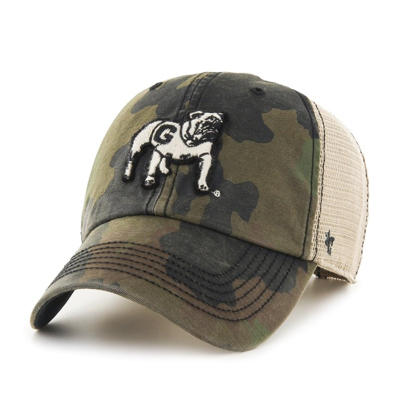 The '47 Adults' University of South Carolina Burnett '47 Clean Up Camo Cap features a team logo and a camo print. Available at Academy Sports + Outdoors.