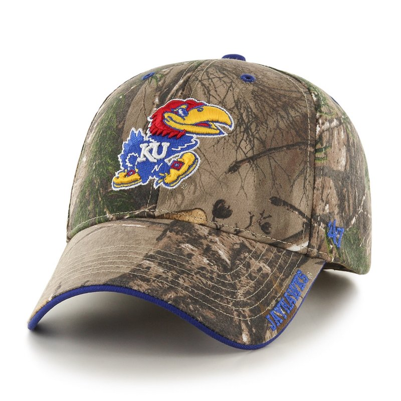 The '47 Adults' University of Kansas Realtree Frost '47 MVP Cap is made of cotton twill and features team embroidery. Available at Academy Sports + Outdoors.