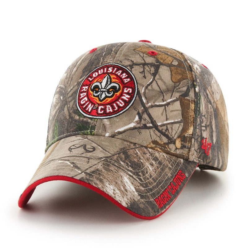'47 Adults' University of Louisiana at Lafayette Realtree Frost MVP Cap Green Dark/Light Green - NCAA Men's Caps at Academy Sports thumbnail