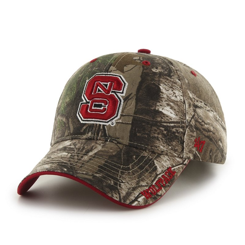 '47 Adults' North Carolina State University Realtree Frost MVP Cap (Green Dark/Light Green, Size One Size) – NCAA Licensed Product, NCAA Men's Caps at Academ…