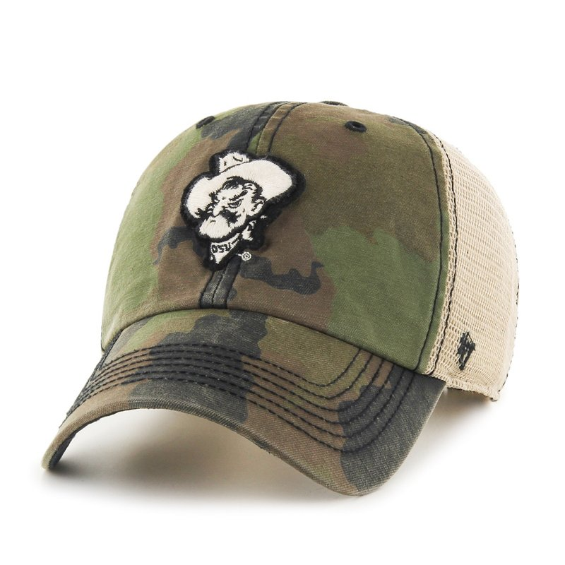 '47 Adults' Oklahoma State University Burnett Cleanup Cap Green Dark/Light Green - NCAA Men's Caps at Academy Sports thumbnail